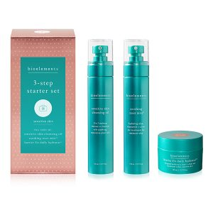Bioelements Kits 3-Step Starter Set Sensitive Skin er introduserings-systemet ditt for å roe, berolige og styrke delikat hud.