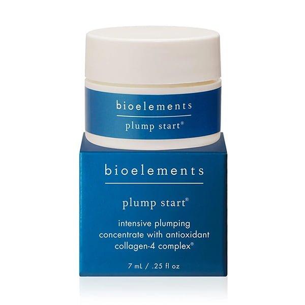 Bioelements Age Activist Face Plump Start er et pluminfusert antioksidantkonsentrat som øyeblikkelig forbedrer fylden, gir næring og glatter ut fine linjer. Gir intelligent fuktighet som leser huden din og trenger inn der den trengs – for å visuelt forbedre utseendet på hudens rynkete daler og sprekker.